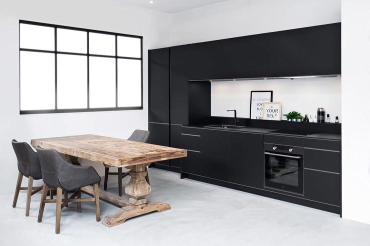 Zwarte Keuken Landelijk Modern Of Hout Ook Met Wit Keur